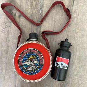 Vintage Marlboro unlimited canteen + water bottle
